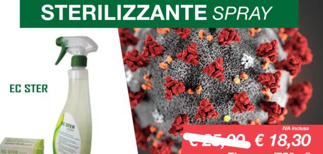 EC STER | Sterilizzante rapido Spray per piccole superfici e dispositivi