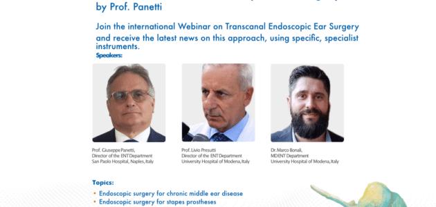 "Webinar ""TEES – Transcanal Endoscopic Ear Surgery"""
